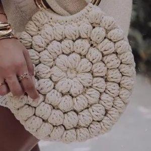 "Bubble stitch handmade purse  10.5"""